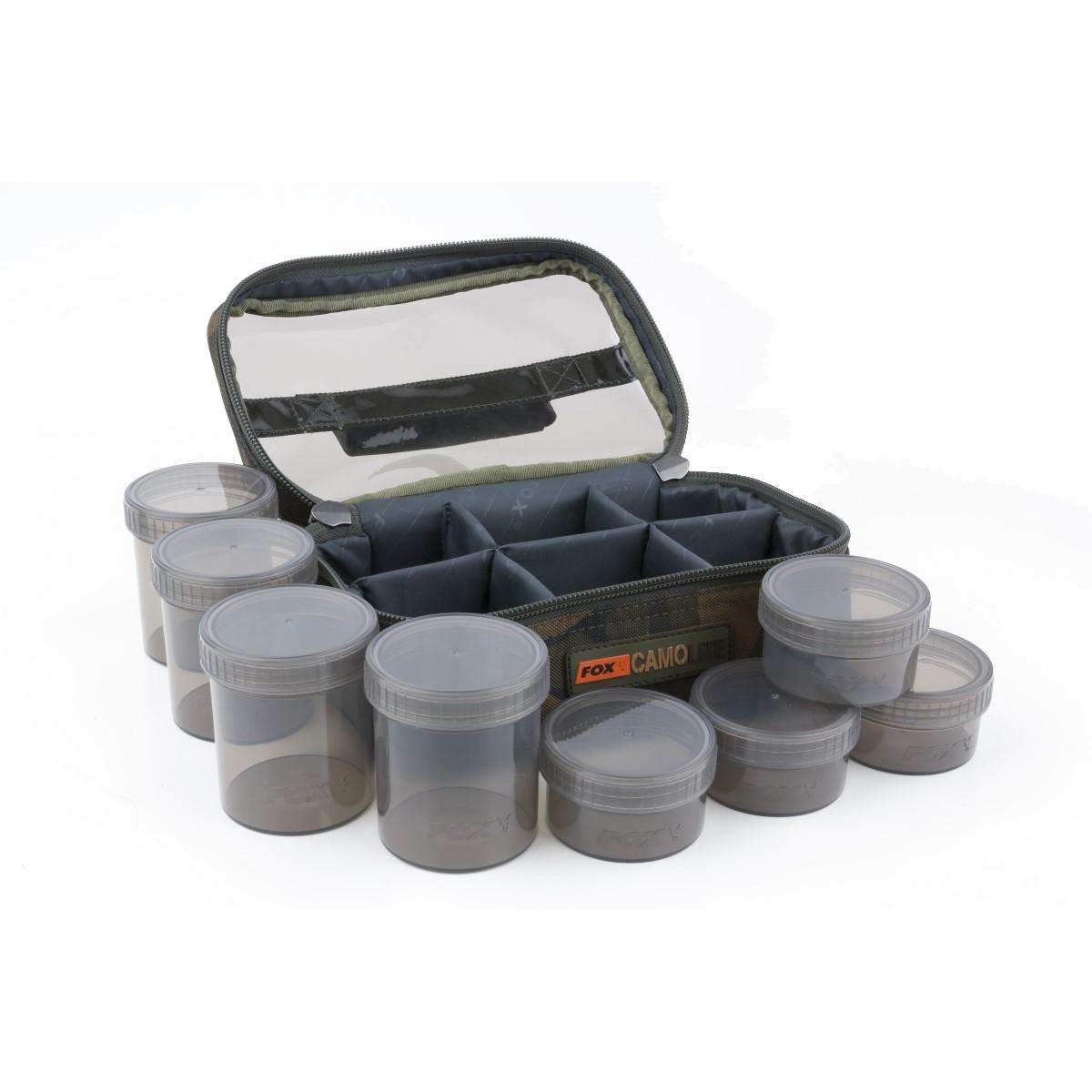 Чанта с бурканчета за стръв Fox Camolite Glug 8 Pot Case