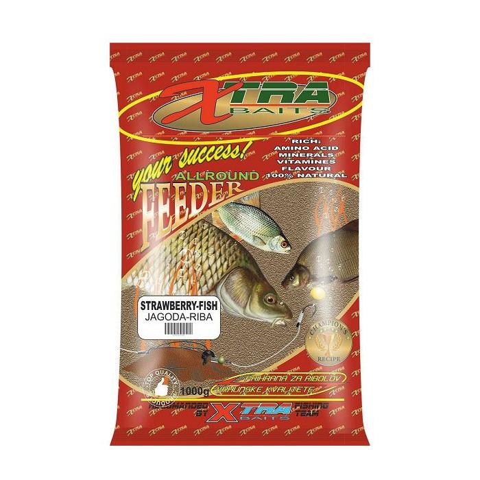 Захранка X-Tra Baits Feeder Strawberry-Fish 1kg