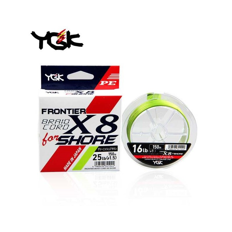 Плетено влакно YGK Frontier Braid Cord X8 For Shore 150m