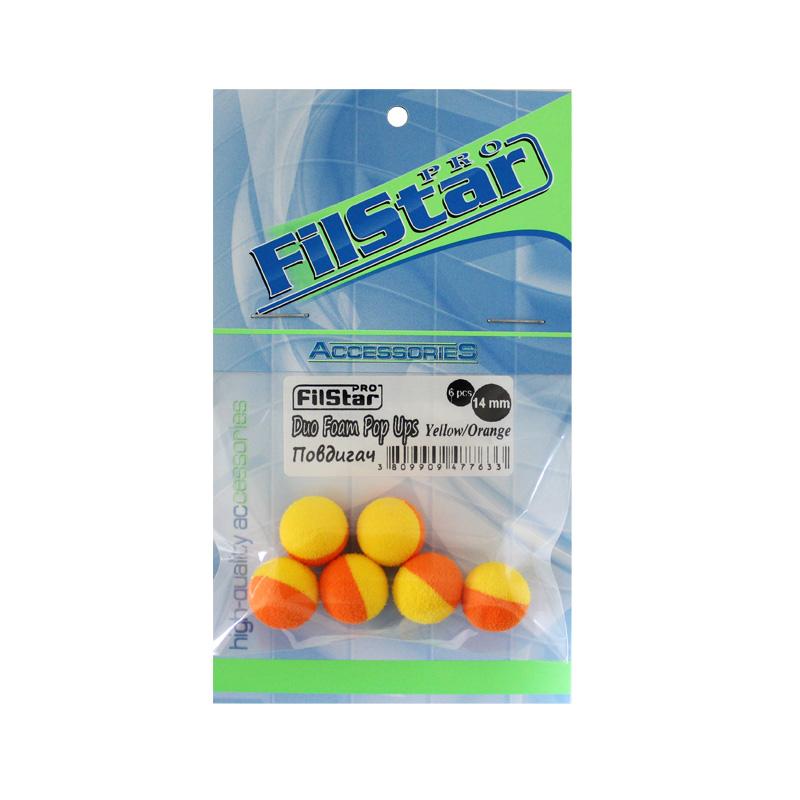 Повдигачи FilStar Duo Foam Pop-Ups Жълто-Оранжеви