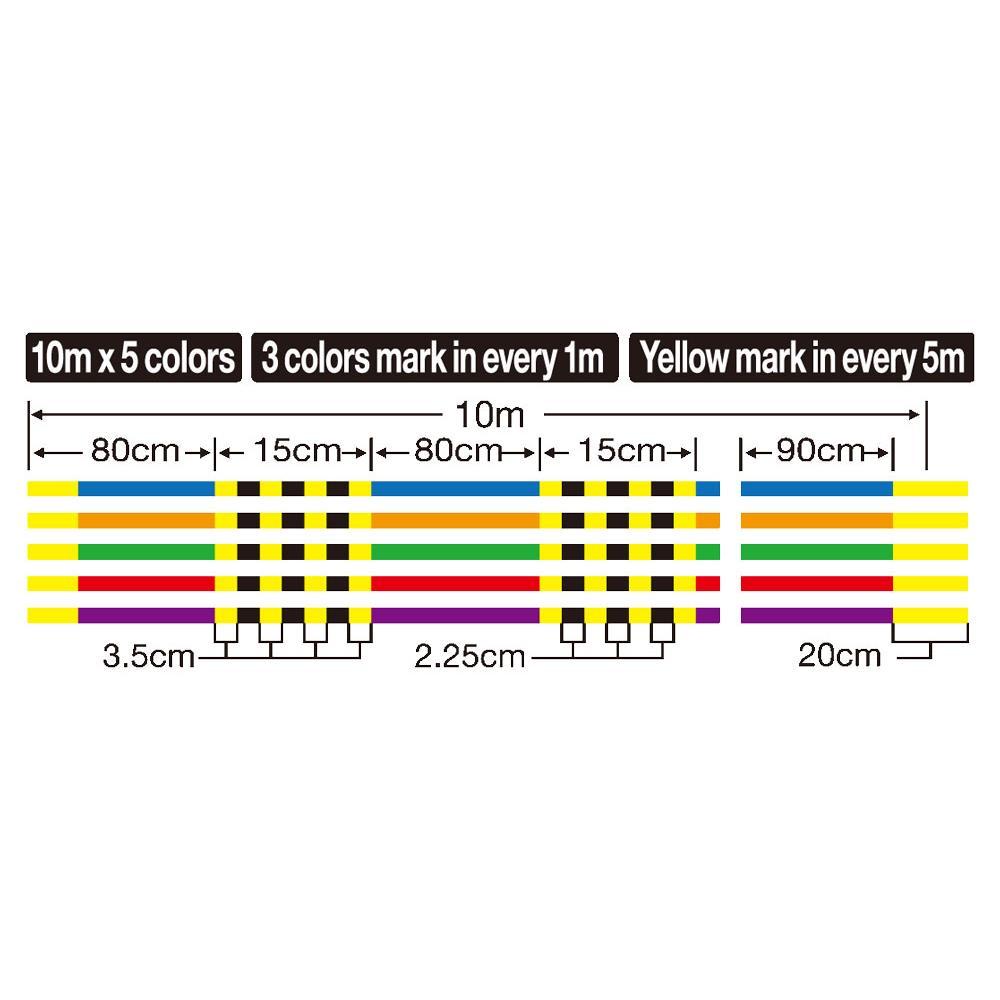 Плетено влакно Owner KIZUNA x8 Multicolor