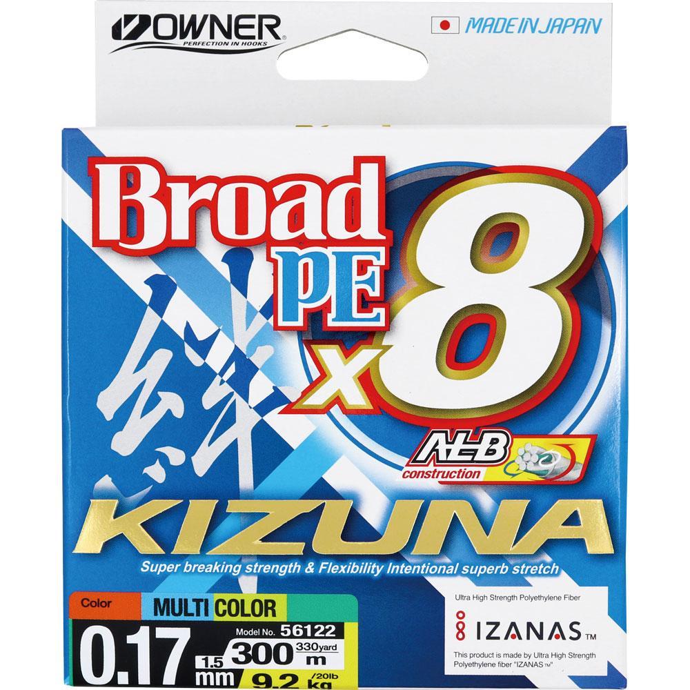 Плетено влакно Owner KIZUNA x8 300м Multicolor