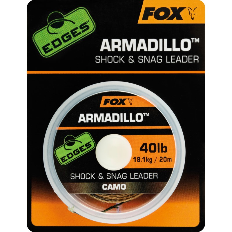 Плетен повод Fox Edges Armadillo Shock and Snag Leader Camo