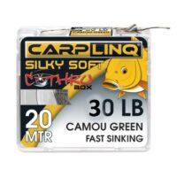 Плетен повод Carp Linq Silky Soft Camou Green Fast Sinking