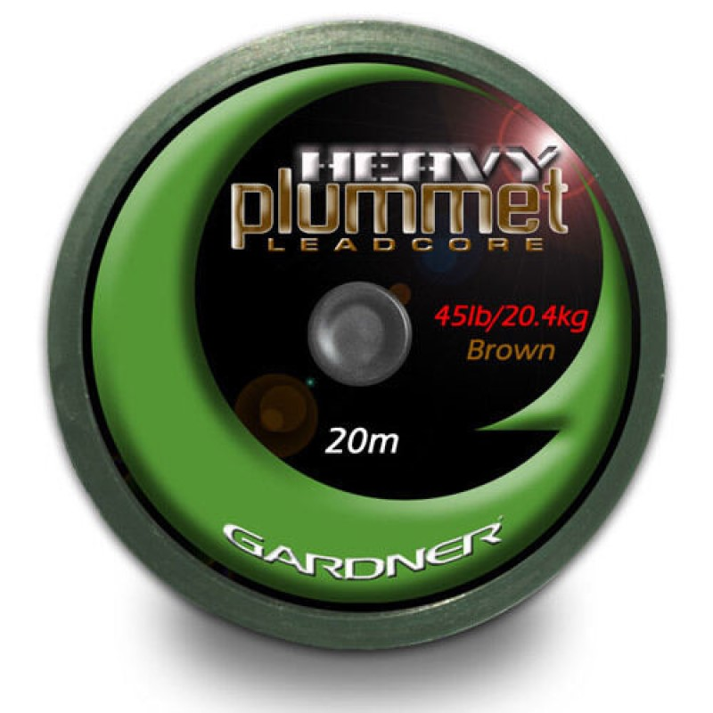 Лидкор Gardner Heavy Plummet Leadcore Brown