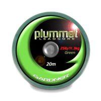 Лидкор Gardner Heavy Plummet Leadcore Green