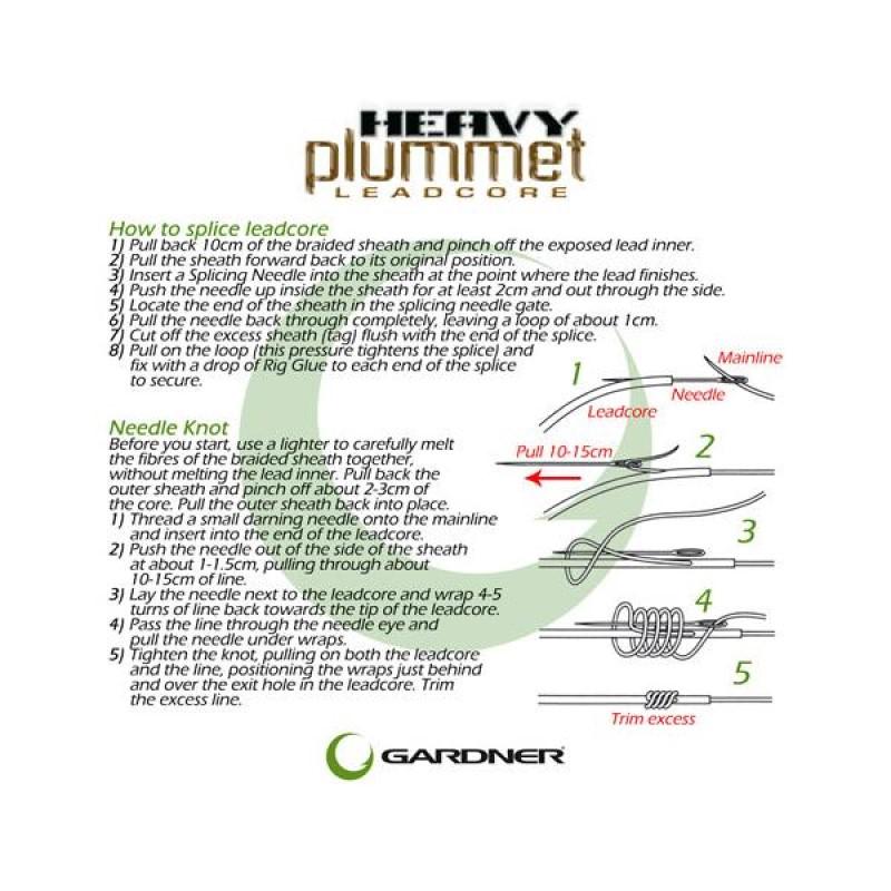 Лидкор Gardner Heavy Plummet Leadcore