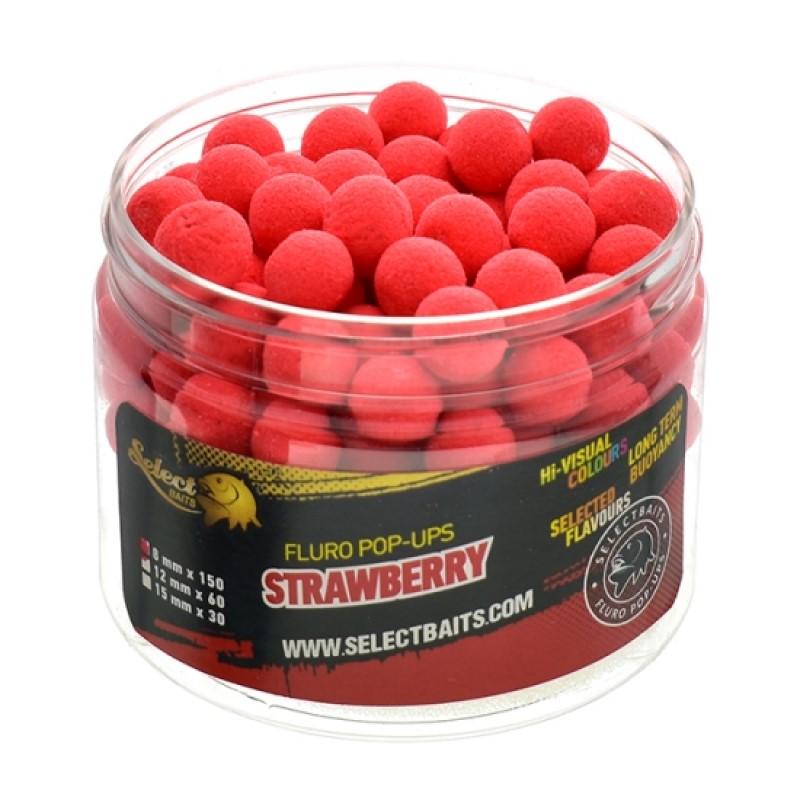 Плуващи топчета Select Baits Fluoro Red Strawberry Micro Pop-up 8mm