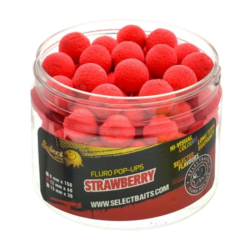 Плуващи топчета Select Baits Fluoro Red Strawberry Pop-up