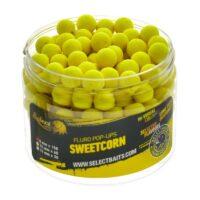 Плуващи топчета Select Baits Fluoro Yellow Sweetcorn Micro Pop-up 8mm