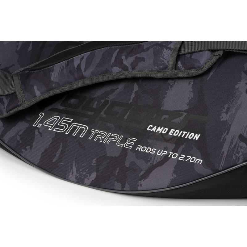 Троен твърд калъф за пръчки с макара Fox Rage Camo Hard Case Triple