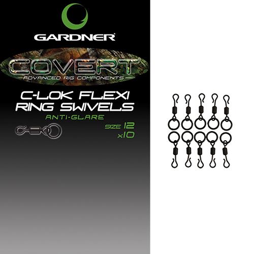 Бърза връзка с халка Gardner Covert C-Lok Flexi Ring Swivels