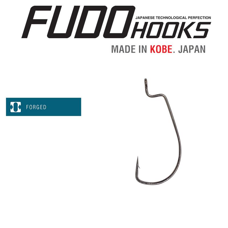 Офсетни куки Fudo Worm 108R-BN - 4911