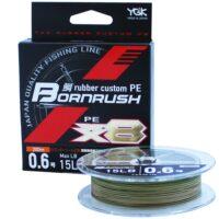 Плетено влакно YGK Tai-rubber Custom PE Bornrush WX8 200m