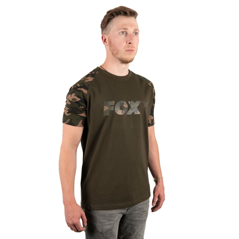 Тениска Fox Camo Khaki Chest Print T-shirt