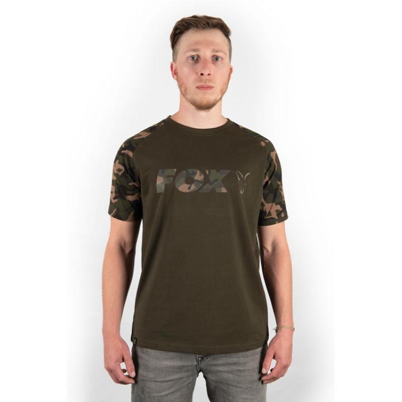 Тениска Fox Camo Khaki Chest Print T-shirt
