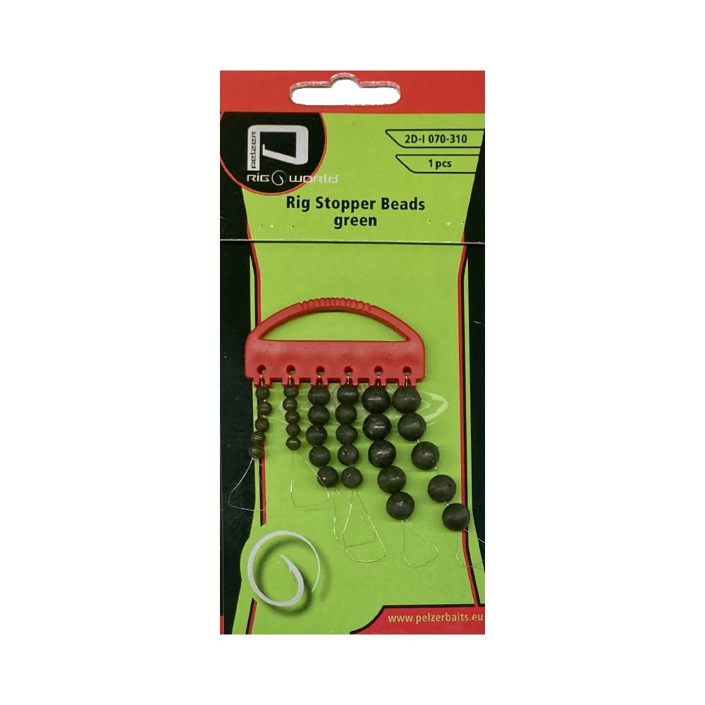 Гумени стопери Pelzer Rig Stopper Beads Green