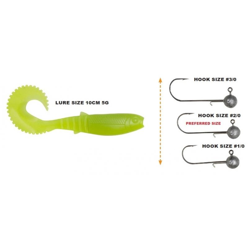 Силиконова примамка Savage Gear Cannibal Curl Tail 10cm