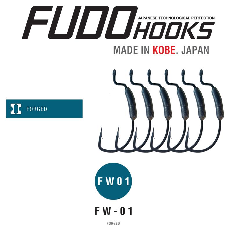 Офсетни куки с утежнение Fudo Offset FW01-BN – 7801