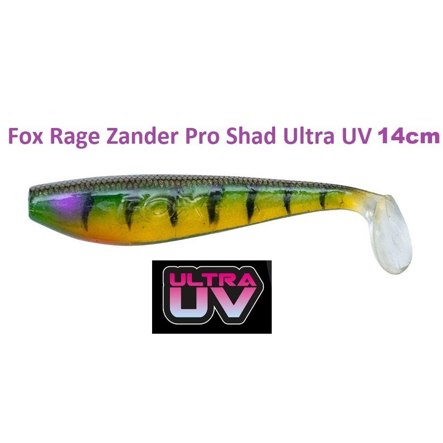 Силиконова примамка Fox Rage Zander Pro Shad Ultra UV 14cm