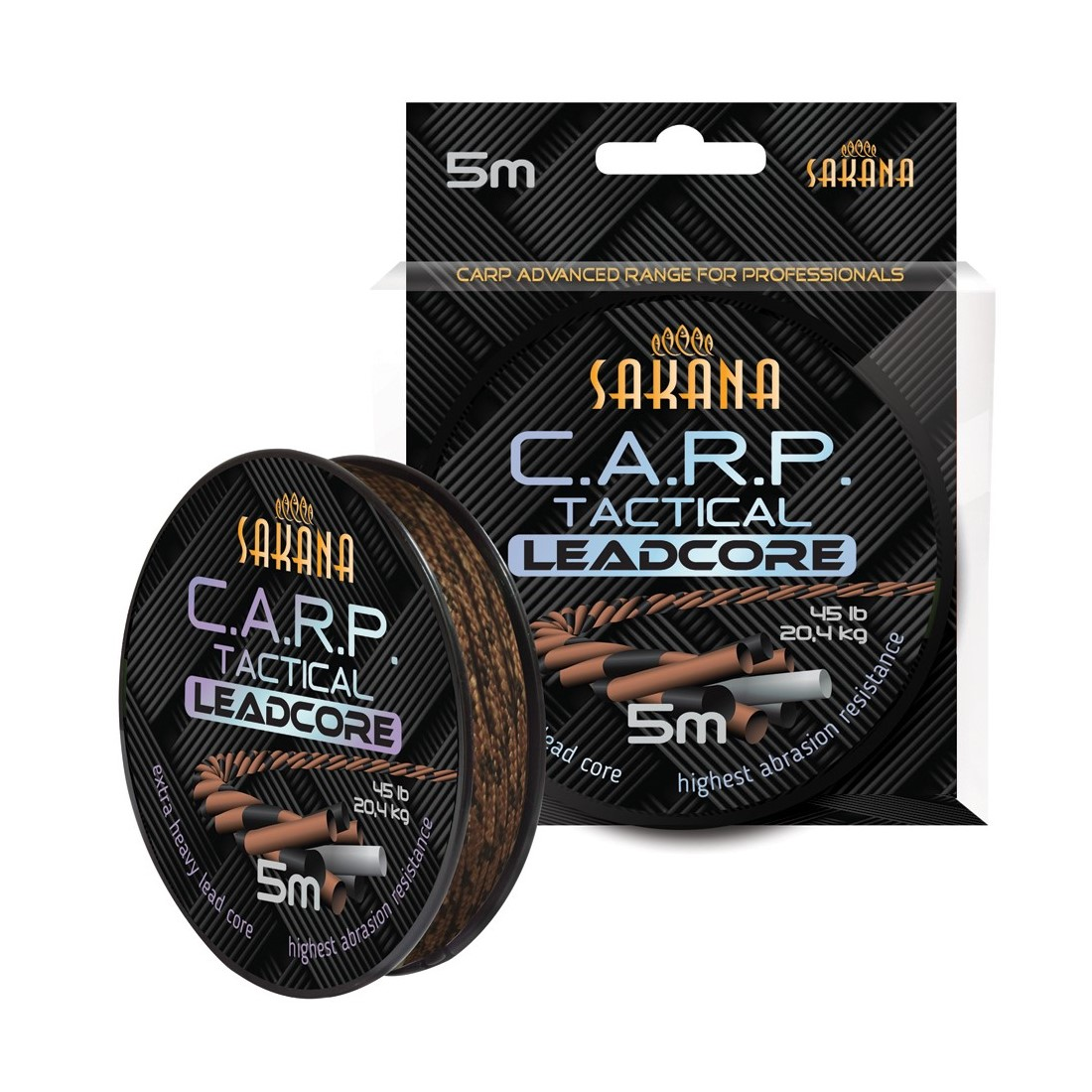 Лидкор Sakana CARP Tactical Leadcore Brown 5m