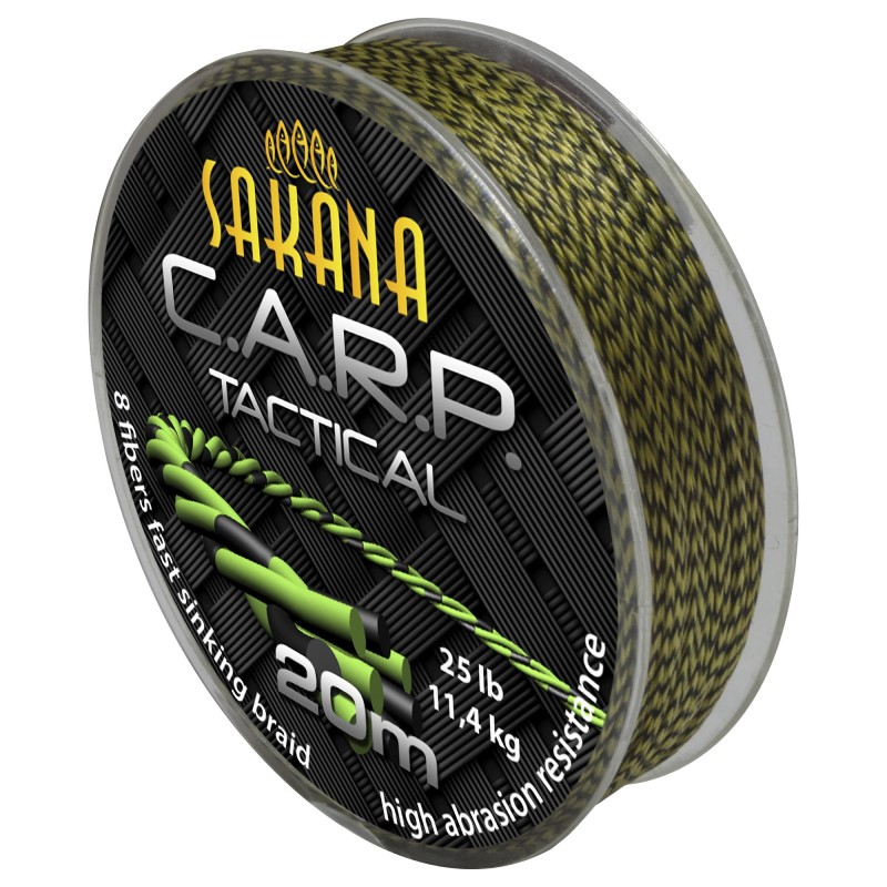 Плетен повод Sakana CARP Tactical Green 20m