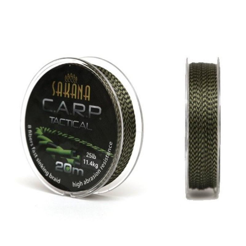 Плетен повод Sakana CARP Tactical Green 20m