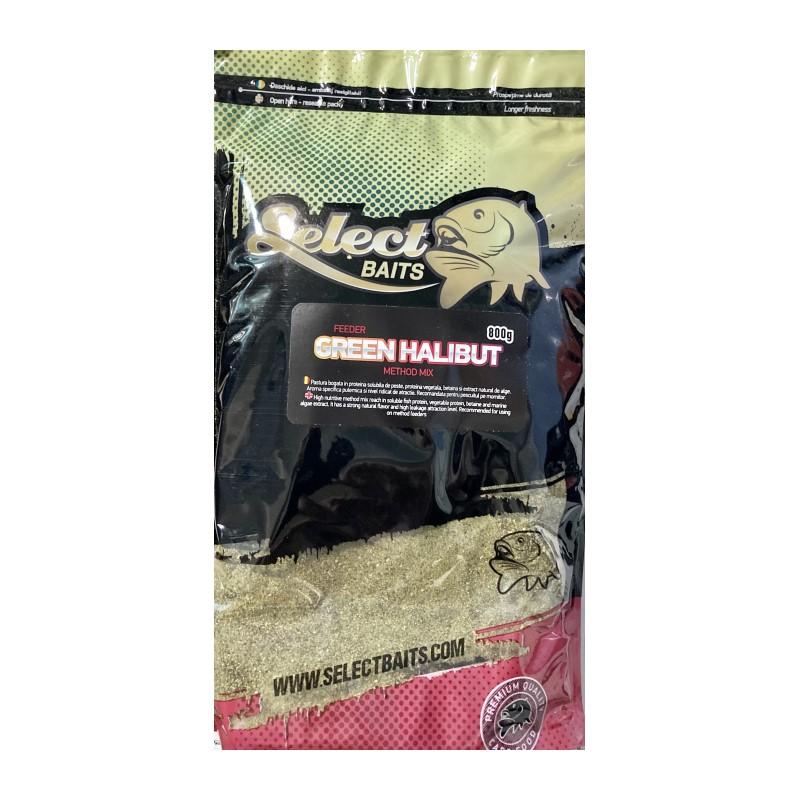 Захранка Select Baits Feeder Green Halibut Method Mix