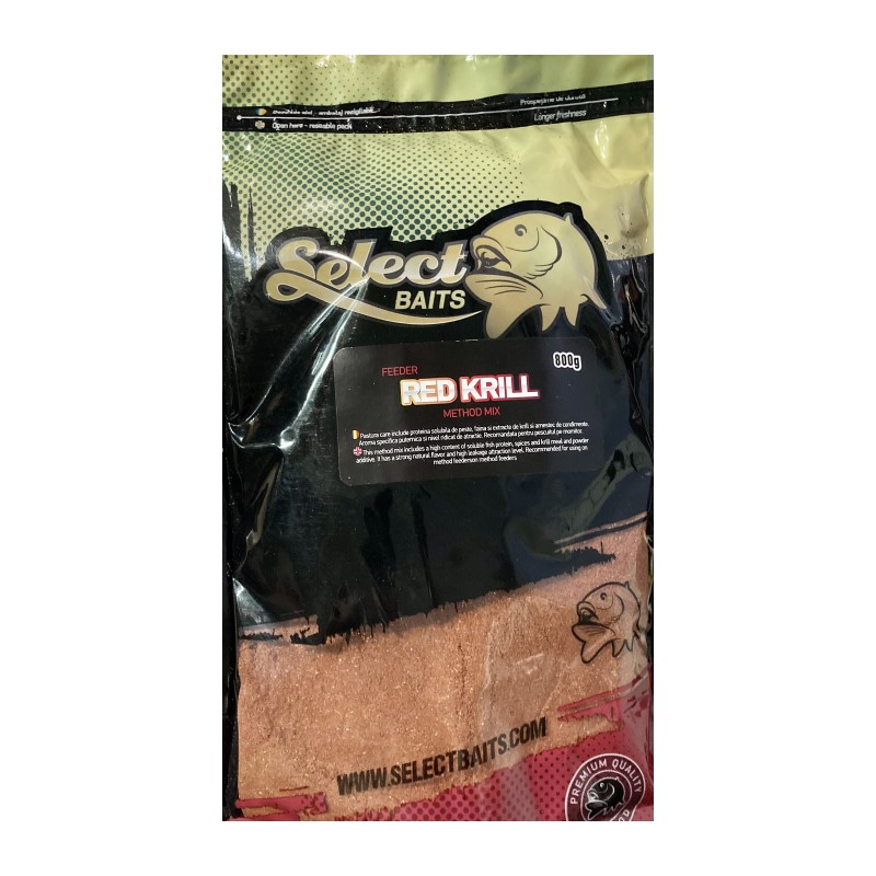 Захранка Select Baits Feeder Red Krill Method Mix
