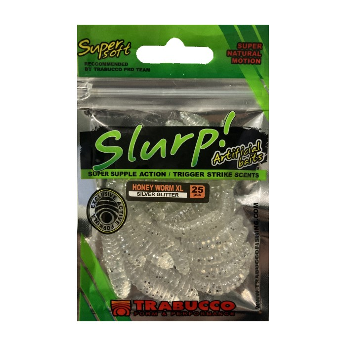 Изкуствен червей Trabucco Slurp Honey Worm XL Silver
