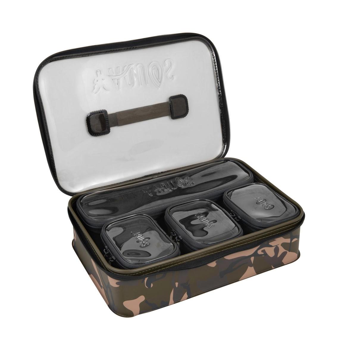 Чанта за риболовни аксесоари Fox Aquos Camolite EVA Bag System