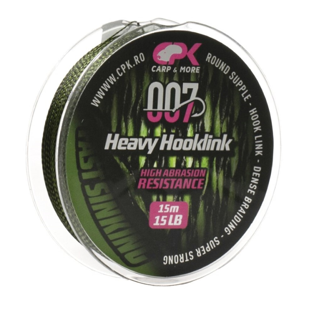 Плетен повод CPK Heavy Hooklink Green 15m