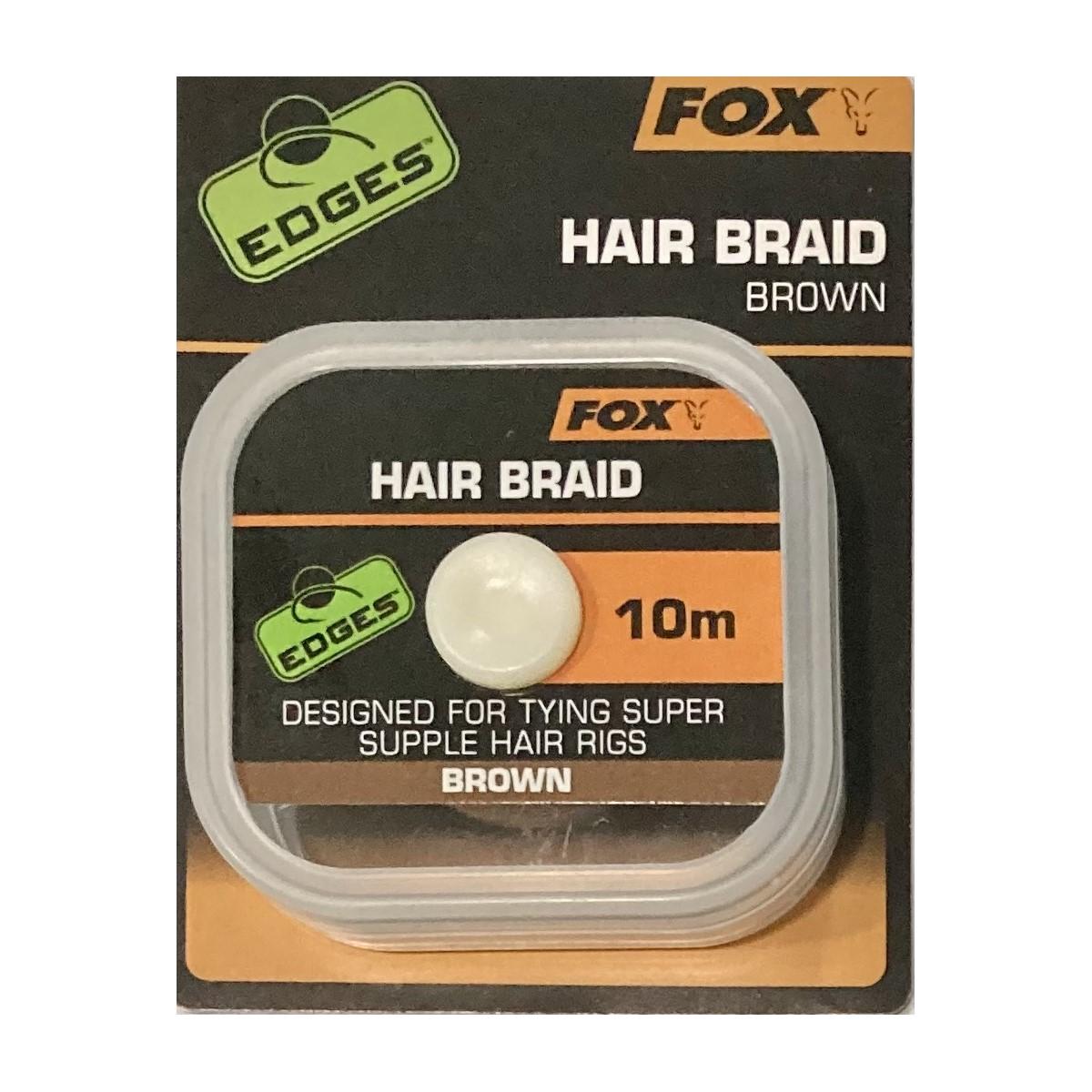 Повод за косъм Fox Edges Hair Braid Brown 10m