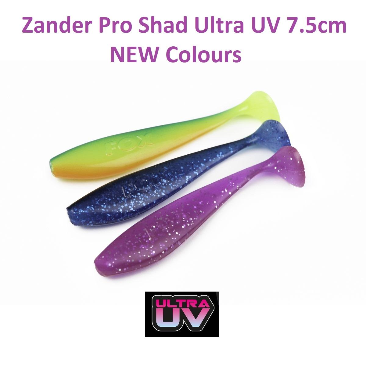 Силиконова примамка Fox Rage Zander Pro Shad Ultra UV 7.5cm NEW