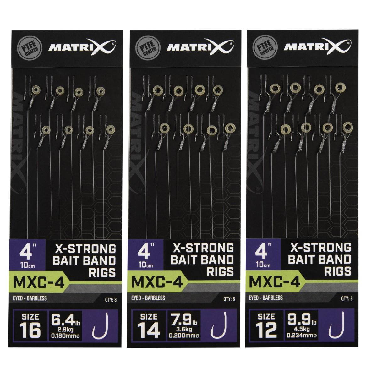 Вързани куки Matrix MXC-4 X-Strong Bait Band Rigs 10cm