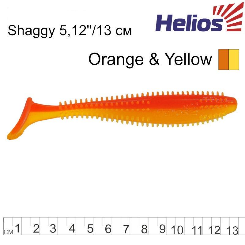 Силиконова примамка Helios Shaggy 13см Orange & Yellow