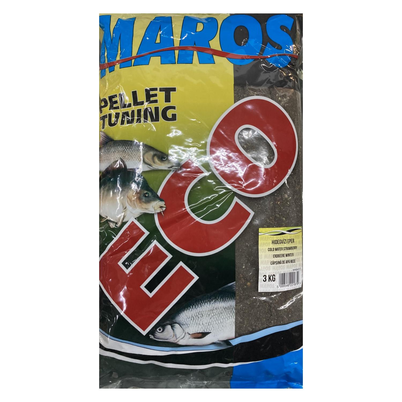 Захранка Maros Mix ECO Pellet Tuning Cold Water Strawberry 3kg