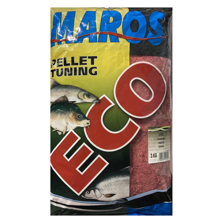 Захранка Maros Mix ECO Pellet Tuning Strawberry 3kg